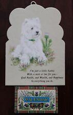 Vintage 1999 White Scottie Westie Terrier Wall Calendar Greeting Card Scotland
