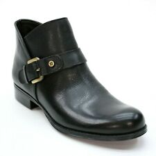 a61a61e02c14 NEW - Naturalizer Ladies 7.5 N Jarrett Black Leather Side Zip Buckle Ankle  Boot