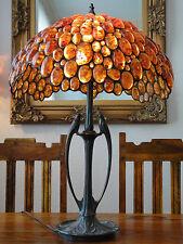 Luxus Bernsteinlampe Tischleuchte Edelstein Lampe Bernstein Tischlampe Tiffany