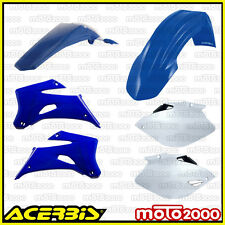 KIT PLASTICHE CARENE CARENATURE ACERBIS BLU BIANCO YAMAHA YZF 250 450 2006 2009
