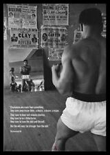 (FRAMED) MUHAMMAD ALI MIRRORS GYM POSTER PRINT PICTURE - READY TO HANG ART NEW