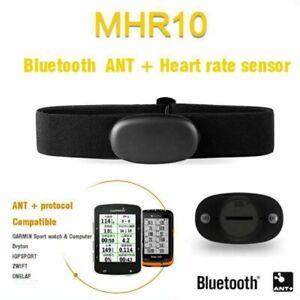 MHR10 ANT+ Bluetooth Smart Sensor Heart Rate Monitor Set For Garmin Edge Suunto