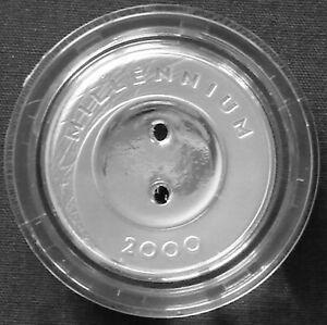 Latvia 1 lats silver proof 2000 Millennium Button KM#39