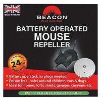 Beacon Ultrasonic Mouse & Rat Repeller, Battery Powered Dog Cat Safe Poison-Free