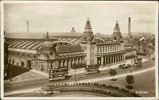 Trams Outside Kelvin Hall. Glasgow. Truck Horse Cart  RH.864