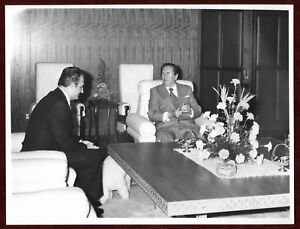 1960s Original Photo Josip Broz Tito Meeting Delegation Dog Table YU Diplomacy