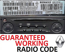 Renault Master+Trafic+Scenic+Clio+Megane Radio Code Unlock–Perfect Working Codes