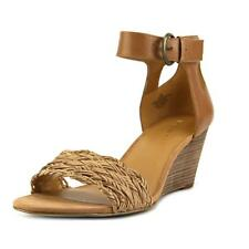 Nine West Rylano Women  Open Toe Leather Tan Wedge Sandal