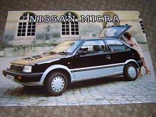 ORIGINAL NISSAN MICRA SALES BROCHURE 1986