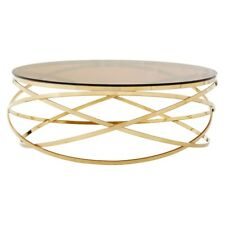 Paloma Gold Round  Coffee Table