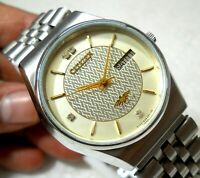 CITIZEN JAPAN AUTOMATIC WIND JAPAN DAY DATE CLASS CREAM  DIAL CASUAL MEN'S WATCH
