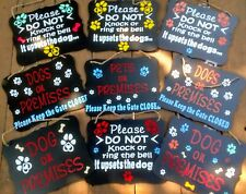 Personalized DOG SIGN - design your own warning funny, friendly message! Unique!