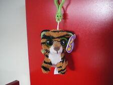 W-f-l Ty Boos Key Ring Key - Clip Glubschi 8 5 Cm Plush Stripes Tiger Wild Cat