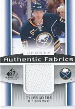 2013-14 SP Game Used TYLER MYERS #AF-TM Authentic Fabrics Buffalo Sabres