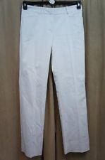 Tahari ASL Dress Pants Sz 16 White MOLLI Cotton Blend Career Trouser Pant