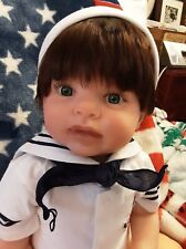"Big Chubby Reborn 26"" Kitten BOY Toddler Donna Rubert Bountiful Baby Doll"