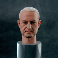 1/6 Male Head Sculpt Head Carved WWII Commander Head Model F 12'' Figure Toy