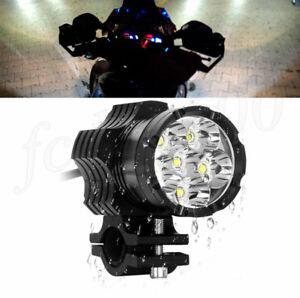 Spot 9 LED Headlight Shooter Lamp Motorcycle Fog Spotlight Mount Waterproof 1x