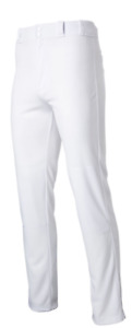 Rawlings BP31MR Medium Weight Baseball Pants - White - Open Bottom