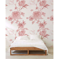Pastel Floral self adhesive Flowers wall mural Watercolor removable wallpaper