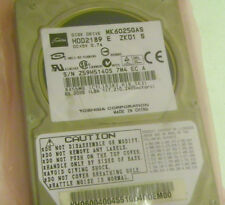 60GB Toshiba MK6025GAS  Laptop IDE Hard Drive HDD2189 E ZK01 S