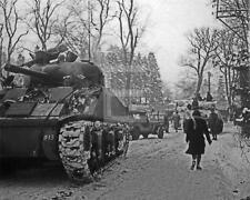 1st Army Battle Of The Bulge Sherman Tank Ardennes WWII John Florea Photo FL1