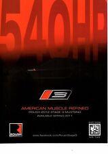 2011 ROUSH MUSTANG STAGE 3 MUSTANG 540-HP  -  ORIGINAL PRINT AD