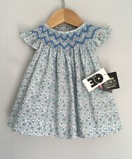 Question Everything Pretty Floral Print Smocked Bishop Baby Dress BNWT Size 3-6