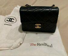 Chanel Navy Blue Lambskin Vintage
