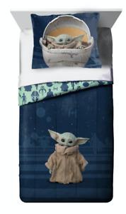 New Baby Yoda Twin Full Size Comforter Set Star Wars Mandalorian Bedding Sham