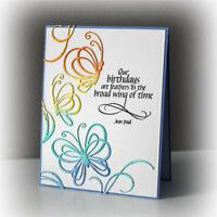 Stanzschablone Schmetterlings-Set Weihnachten Hochzeit Geburtstag Album Karte