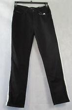 Calvin Klein Jeans Women's Side Striped Straight Jeans, Black/White, 27x30