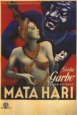 MATA HARI MOVIE POSTER ~ ART DECO 24x35 Greta Garbo