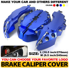 Universal Style Disc Car Brake Caliper Covers Front & Rear Kits 4x Dark Blue L+M
