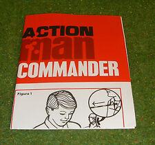 VINTAGE ACTION MAN 40th MANUAL LEAFLET COMMANDER