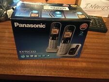 PANASONIC KX-TGC222EB DECT CORDLESS PHONE WITH ANSWERING MACHINE