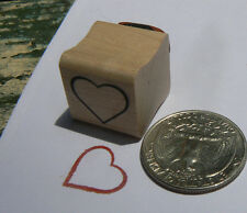 P24  Heart rubber stamp miniature