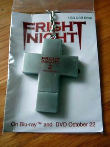 FRIGHT NIGHT 2 New Blood Crucifix sdcc 2013 USB Drive Keychain WILL PAYNE JAIME