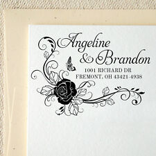 Personalized Name Returned Address Wedding Handle Mounted Rubber Stamp RE687
