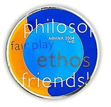 OLYMPIC VALUES #3 - OLYMPIC METALLIC MAGNET ATHENS 2004 OLYMPIC GAMES