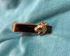 Vintage Tie Clip Horse Pony Head Gold Tone Equestrian