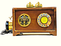 British Wooden Crafted Antique 1885 Corded Landline Dictograph Telephone TP 019