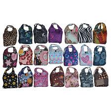 Reusable Foldable Ladies Shopping Bag Eco Tote Strong Handbag + Fold Away Bag