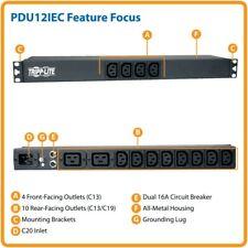 Tripp Lite PDU12IEC 100/240V 16A Rackmount 1U power distribution unit BRAND NEW!