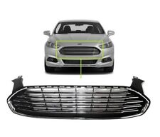 13 16 Ford Fusion Gloss Black Chrome Trim Factory Style Front Grill Bumper Hood