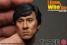 Jackie Chan 1/6 Head Sculpt Jet Li Bruce Lee Mr bean IP Man Jack Bauer ThreeQ