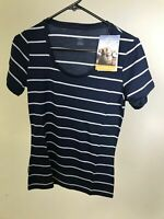 ICEBREAKER Merino Wool Women's Tech Lte SS Scoop Stripe - BLUE - XS/S/L/XL- NWT!