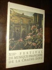 XIIIe FESTIVAL DE MUSIQUE FRANÇAISE DE LA CHAISE -DIEU - 1980