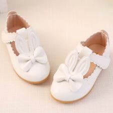 Girls Rabbit Sandals Princess Bowknot Toddler Kids Flower Soft Sole Shoes Size