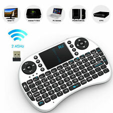 Genuine Rii i8 White Mini Wireless Keyboard  Mouse Touchpad for PC Smart TV PS4